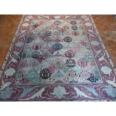 One-of-a-Kind Pellegrino Bachtiary Hand-Knotted Wool Green/Red Area Rug