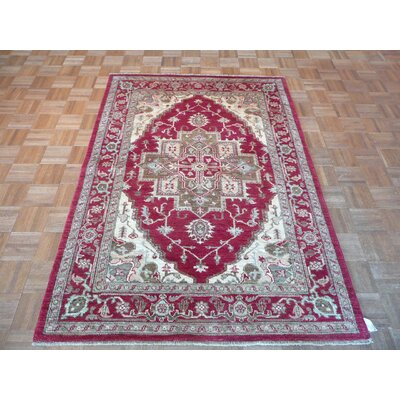 One-of-a-Kind Josephson Serapi Hand-Knotted Red Area Rug