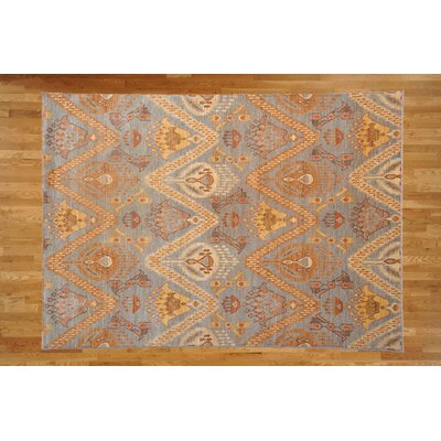 One-of-a-Kind Josephson Hand-Knotted Wool Light Yellow Area Rug
