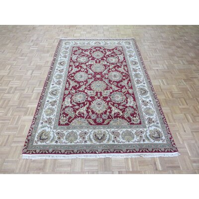 One-of-a-Kind Railey Hand-Knotted Red Area Rug