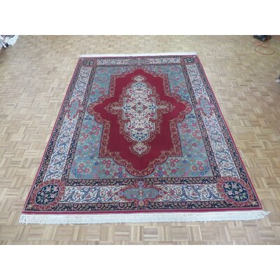 One-of-a-Kind Rainbolt Hand-Knotted Wool Red Area Rug