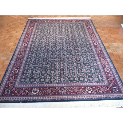 One-of-a-Kind Pellegrino Bijar Hand-Knotted Wool Green Area Rug