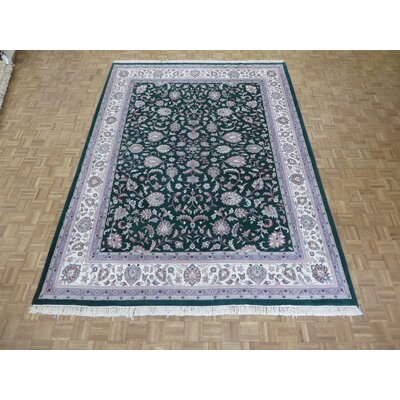 One-of-a-Kind Raines Hand-Knotted Green Area Rug