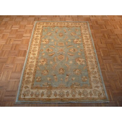 One-of-a-Kind Josephson Oushak Hand-Knotted Wool Light Blue Area Rug