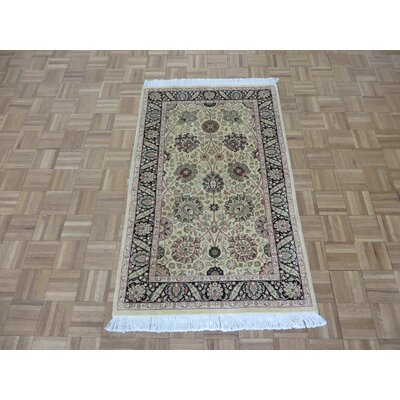 One-of-a-Kind Padro Pak Kashan Hand-Knotted Wool Gold Area Rug