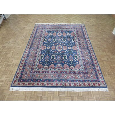 One-of-a-Kind Pellegrino Heriz Hand-Knotted Wool Blue Area Rug