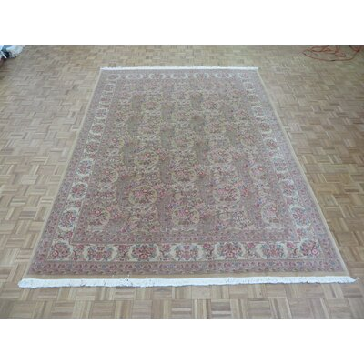 One-of-a-Kind Josephson Hand-Knotted Wool Gold Area Rug