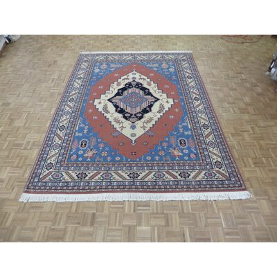 One-of-a-Kind Padro Serapi Heriz Hand-Knotted Pink Area Rug