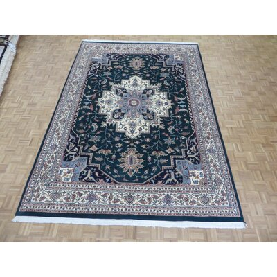 One-of-a-Kind Padro Heriz Hand-Knotted Wool Green Area Rug
