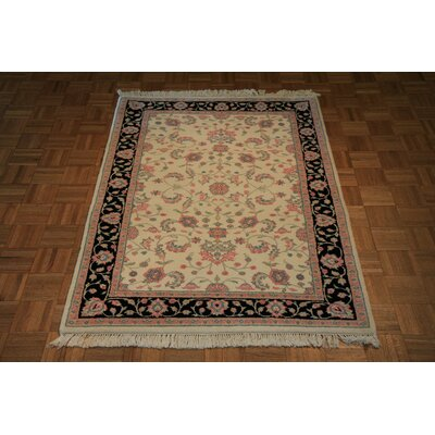 One-of-a-Kind Raines Hand-Knotted Ivory Area Rug