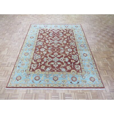 One-of-a-Kind Josephson Oushak Hand-Knotted Wool Brown/light Blue Area Rug