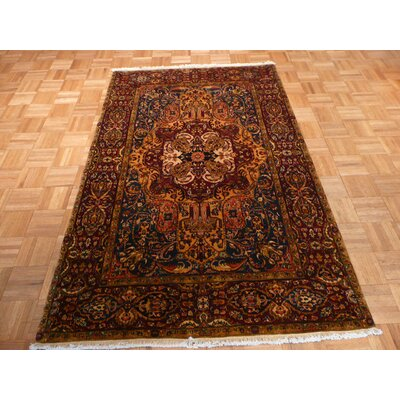 One-of-a-Kind Railey Hand-Knotted Wool Gold Area Rug