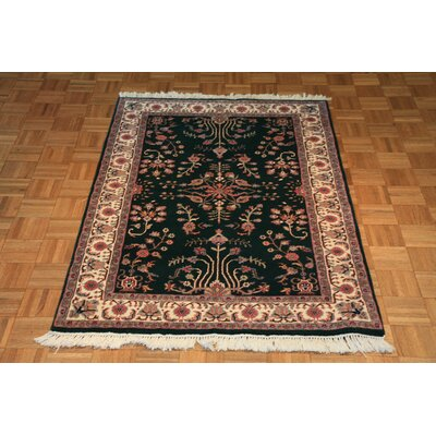 One-of-a-Kind Raines Hand-Knotted Silk Green Area Rug