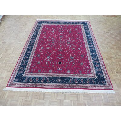 One-of-a-Kind Padro Kashan Hand-Knotted Hot Pink Area Rug