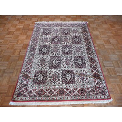 One-of-a-Kind Padro Hand-Knotted Wool Red/Gray Area Rug