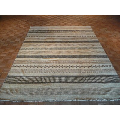 One-of-a-Kind Cornerstone Hand-Knotted Wool Beige Area Rug