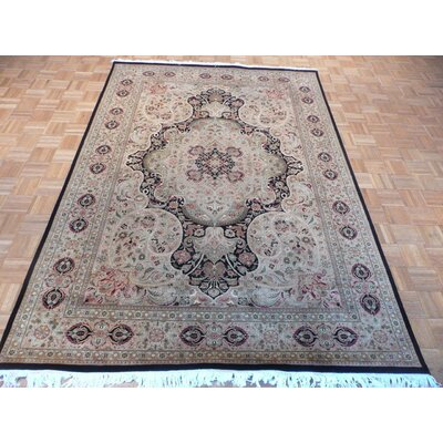 One-of-a-Kind Josephson Hand-Knotted Wool Gold/Black Area Rug