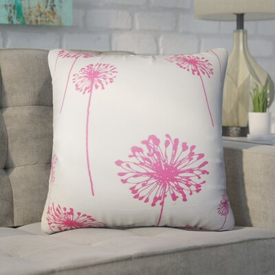 Wittman Floral Cotton Throw Pillow Color: Pink