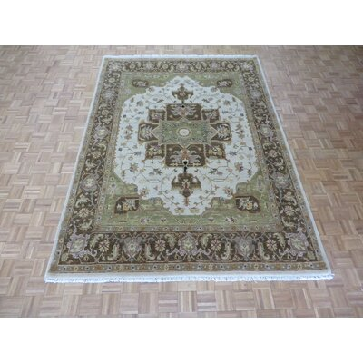 One-of-a-Kind Railsback Serapi Hand-Knotted Wool Beige/Brown Area Rug