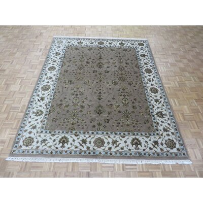 One-of-a-Kind Railey Hand-Knotted Wool Lavender Area Rug