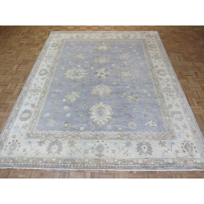 One-of-a-Kind Josephson Oushak Hand-Knotted Wool Sky Blue Area Rug