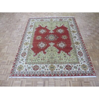 One-of-a-Kind Josephson Oushak Hand-Knotted Wool Red Area Rug