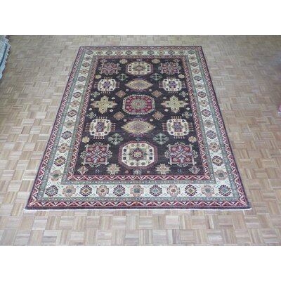 One-of-a-Kind Padula Tribal Hand-Knotted Wool Brown Area Rug