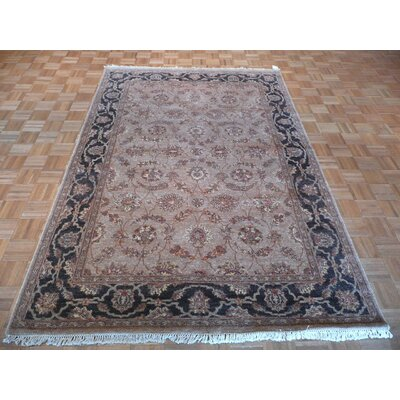 One-of-a-Kind Railey Hand-Knotted Wool Brown Area Rug