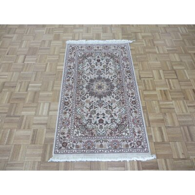 One-of-a-Kind Josephson Hand-Knotted Wool Ivory Area Rug
