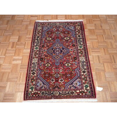 One-of-a-Kind Rakestraw Hand-Knotted Wool Red Area Rug