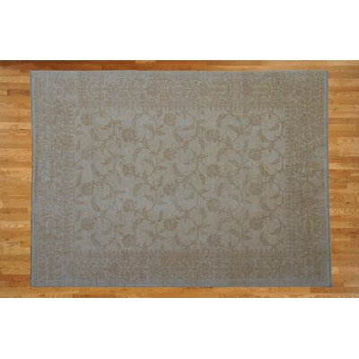 One-of-a-Kind Railsback Hand-Knotted Wool Ivory Area Rug