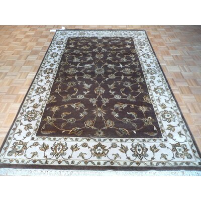 One-of-a-Kind Josephson Hand-Knotted Wool Chocolate Brown Area Rug