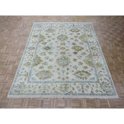 One-of-a-Kind Josephson Oushak Hand-Knotted Wool Ivory Area Rug