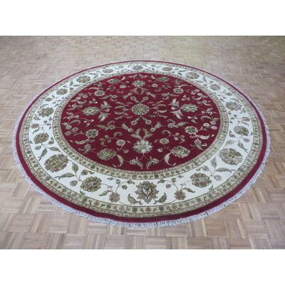 One-of-a-Kind Rhyne Hand-Knotted Wool Red Area Rug