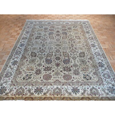 One-of-a-Kind Rhyne Hadji Jalili Hand-Knotted Wool Beige Area Rug