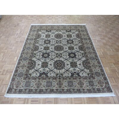 One-of-a-Kind Rhyne Hadji Jalili Hand-Knotted Wool Ivory/Camel Area Rug