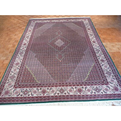 One-of-a-Kind Raiden Hand-Knotted Wool Green Area Rug