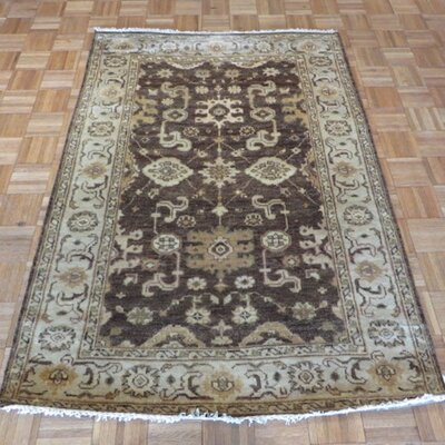 One-of-a-Kind Sherika Oushak Hand-Knotted Brown Area Rug