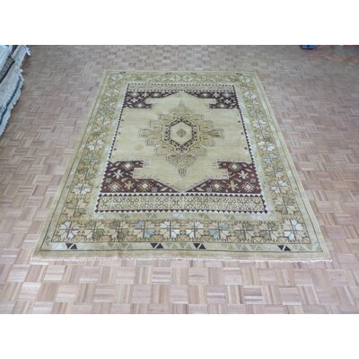 One-of-a-Kind Rhyne Turkish Oushak Hand-Knotted Tan/Brown Area Rug