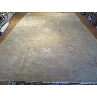 One-of-a-Kind Josephson Oushak Hand-Knotted Wool Camel Area Rug