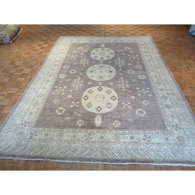 One-of-a-Kind Pafford Oushak Peshawar Hand-Knotted Lavender Area Rug