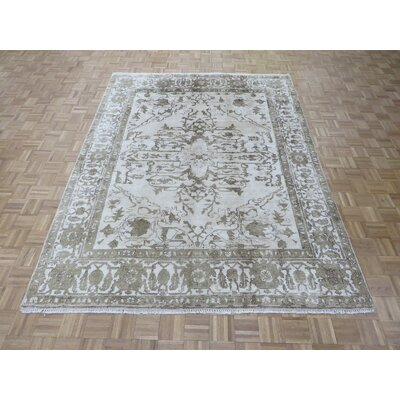One-of-a-Kind Josephson Oushak Hand-Knotted Ivory Area Rug