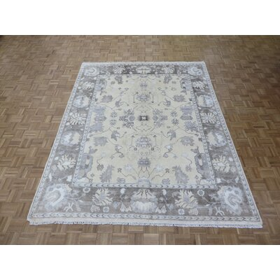 One-of-a-Kind Josephson Hand-Knotted Beige/Brown Area Rug