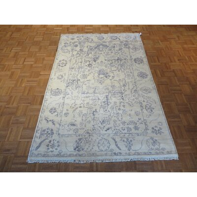 One-of-a-Kind Josephson Oushak Hand-Knotted Ivory/Sky Blue Area Rug