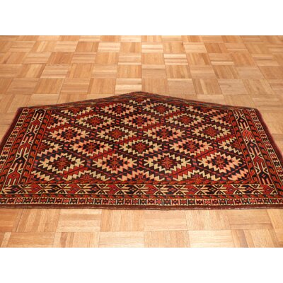 One-of-a-Kind Pellegrino Antique Hand-Knotted Ivory Area Rug