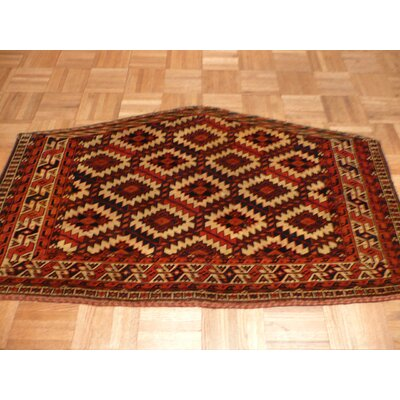 One-of-a-Kind Pellegrino Antique Yamout Hand-Knotted Ivory Area Rug
