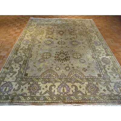 One-of-a-Kind Josephson Oushak Hand-Knotted Wool Beige Area Rug