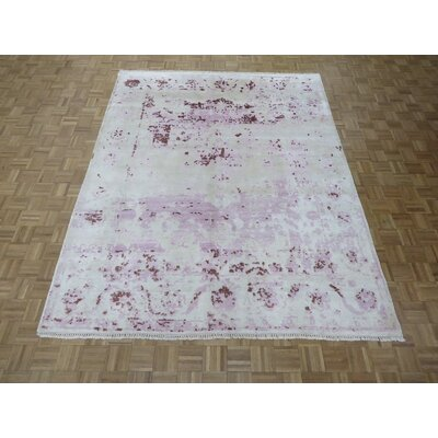 One-of-a-Kind Pellegrino Broken Hand-Knotted Wool Purple/Lavender Area Rug