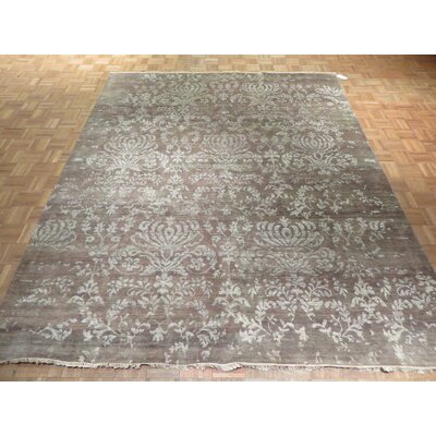 One-of-a-Kind Pellegrino Modern Hand-Knotted Wool Brown Area Rug