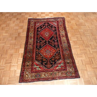 One-of-a-Kind Padro Hamadan Hand-Knotted Blue Area Rug